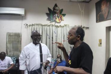 Theo Lawson with Femi Kuti