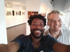With Stephan Doms of The German Consulate, Lagos