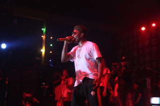 Wizkid on stage at the Afrika Shrine